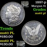 1897-p Morgan Dollar $1 Grades Select Unc PL