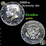 Proof 1969-s Kennedy Half Dollar 50c Grades GEM+ Proof