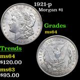 1921-p Morgan Dollar $1 Grades Choice Unc