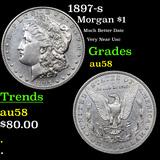 1897-s Morgan Dollar $1 Grades Choice AU/BU Slider