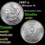 1887-o Morgan Dollar $1 Grades Choice AU/BU Slider+