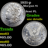 1921-p Morgan Dollar $1 Grades Unc Details