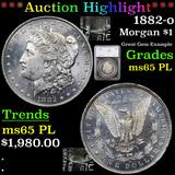 ***Auction Highlight*** 1882-o Morgan Dollar $1 Graded ms65 PL By SEGS (fc)