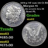 1878-p 7tf vam 131 C1 R5 Morgan Dollar $1 Grades Select Unc