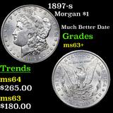 1897-s Morgan Dollar $1 Grades Select+ Unc