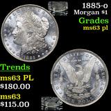 1885-o Morgan Dollar $1 Grades Select Unc PL