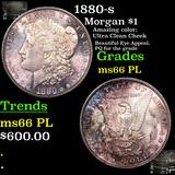 1880-s Morgan Dollar $1 Grades GEM+ UNC PL