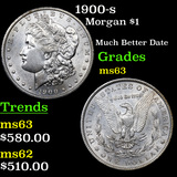 1900-s Morgan Dollar $1 Grades Select Unc