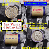***Auction Highlight*** Old Casino 50c Roll $10 Halves Las Vegas Casino Aladdin 1918 Walker & 1951 F