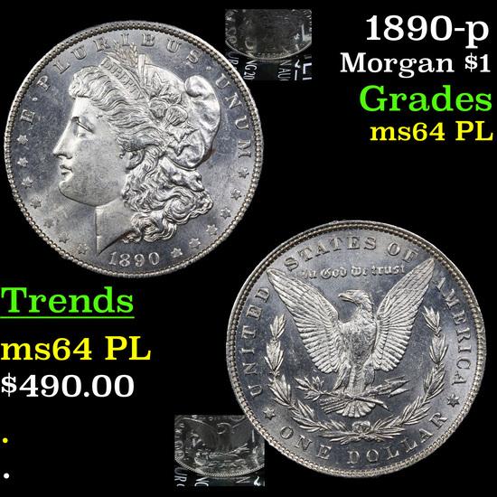1890-p Morgan Dollar $1 Grades Select Unc+ PL