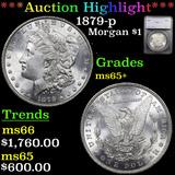 ***Auction Highlight*** 1879-p Morgan Dollar $1 Graded ms65+ By SEGS (fc)