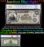 ***Auction Highlight*** PCGS 1902 $10 National Currency Third Charter President McKinley The First N