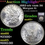 ***Auction Highlight*** 1882-o /o vam 36 Morgan Dollar $1 Graded ms65+ By SEGS (fc)
