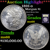 ***Auction Highlight*** 1891-o Morgan Dollar $1 Graded GEM+ Unc By USCG (fc)