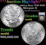 ***Auction Highlight*** 1893-p Near TOP POP! Morgan Dollar $1 Graded ms66 By SEGS (fc)