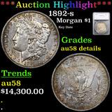 ***Auction Highlight*** 1892-s Morgan Dollar $1 Graded au58 details By SEGS (fc)