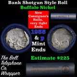 Buffalo Nickel Shotgun Roll in Old Bank Style 'Bell Telephone'  Wrapper 1935 & p Mint Ends