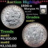 ***Auction Highlight*** 1896-o Morgan Dollar $1 Graded ms62+ By SEGS (fc)