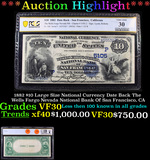 ***Auction Highlight*** PCGS 1882 $10 Large Size National Currency Date Back The Wells Fargo Nevada