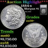 ***Auction Highlight*** 1884-s Morgan Dollar $1 Graded au58+ By SEGS (fc)