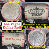 ***Auction Highlight*** Full Morgan/Peace Casino Las Vegas Stardust silver $1 roll $20, 1887 & 1890