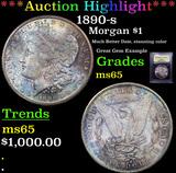 ***Auction Highlight*** 1890-s Morgan Dollar $1 Graded GEM Unc By USCG (fc)