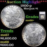 ***Auction Highlight*** 1900-p Morgan Dollar $1 Graded ms66+ By SEGS (fc)