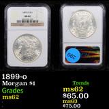 NGC 1899-o Morgan Dollar $1 Graded ms62 By NGC