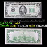 1934A $100 Green Seal Federal Reserve Note, New York, NY Grades Select CU