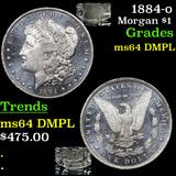 1884-o Morgan Dollar $1 Grades Choice Unc DMPL