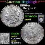 ***Auction Highlight*** 1896-o Morgan Dollar 1 Graded BU+ By USCG (fc)