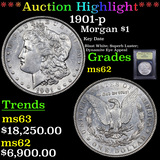 ***Auction Highlight*** 1901-p Morgan Dollar 1 Graded Select Unc By USCG (fc)