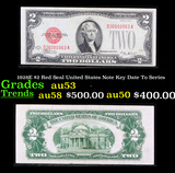 1928E $2 Red Seal United States Note Key Date To Series Grades Select AU