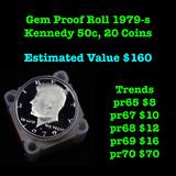 Gem Proof Roll 1979-s Kennedy 50c , 20 Coins Kennedy Half Dollar 50c
