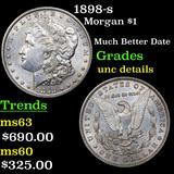 1898-s Morgan Dollar $1 Grades Unc Details