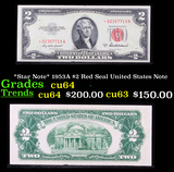 *Star Note* 1953A $2 Red Seal United States Note Grades Choice CU