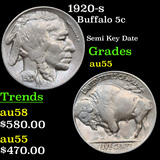 1920-s Buffalo Nickel 5c Grades Choice AU