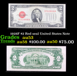 1928F $2 Red seal United States Note Grades Select AU