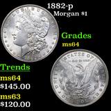 1882-p Morgan Dollar $1 Grades Choice Unc