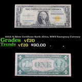 1935A $1 Silver Certificate North Africa, WWII Emergency Currency Grades vf, very fine