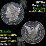 1879-s Morgan Dollar 1 Grades Select Unc+ DMPL