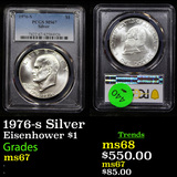 PCGS 1976-s Silver Eisenhower Dollar 1 Graded ms67 By PCGS