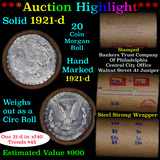 ***Auction Highlight*** Full solid date 1921-D Morgan silver $1 roll, 20 coins (fc)