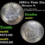 1883-o Vam 21a Morgan Dollar 1 Grades GEM+ Unc