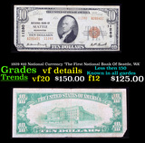 1929 $10 National Currency 'The First National Bank Of Seattle, WA' Grades vf details