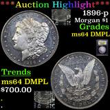 ***Auction Highlight*** 1896-p Morgan Dollar $1 Graded Choice Unc DMPL By USCG (fc)