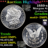 ***Auction Highlight*** 1889-s Morgan Dollar $1 Graded Select Unc+ DMPL By USCG (fc)