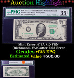 ***Auction Highlight*** Mint Error 1977A $10 FRN (Richmond, VA) Gutter Fold Error Graded vf35 EPQ By