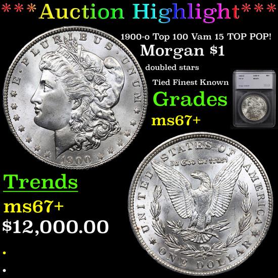 ***Auction Highlight*** 1900-o Top 100 Vam 15 TOP POP! Morgan Dollar $1 Graded ms67+ By SEGS (fc)