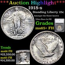 1918-s Standing Liberty Quarter 25c Graded ms65+